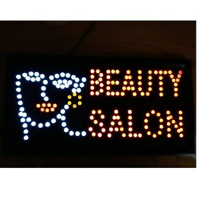 1019 Animated Motion Led Beauty Salon Sign Onoff Switch Bright Open Light Neon