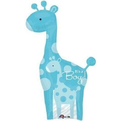 GIRAFFE It's a Boy Blue Sweet Safari Jungle Dots Baby SHOWER 50
