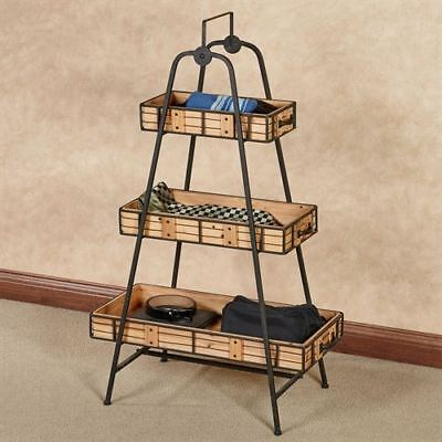 - Cohan Three Tier Shelf Natural Oak