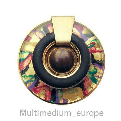 Vintage Langani Modernist Brosche Modeschmuck Metall vergoldet brooch 🌺🌺🌺🌺🌺