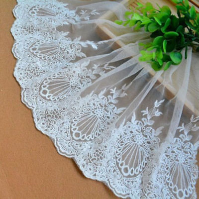 23cm*1Yard Dress Skirt Handicrafts Embroidered Net Lace Trim Ribbon Sewing XS09 segunda mano  Embacar hacia Argentina