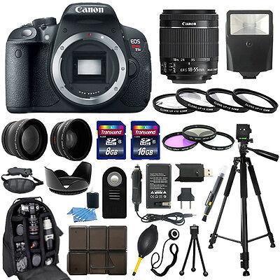 Canon EOS Rebel T5i SLR Camera + 18-55mm STM Lens + 30 Piece Accessory Bundle