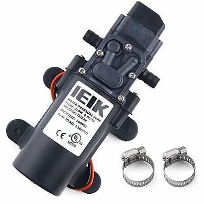 IEIK 12 Volt Diaphragm Pump 3LPM 0.8 GPM 100PSI Self Priming Sprayer Pump 12V...