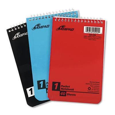 Ampad Wirebound Pocket Memo Book - 40 Sheets - 15 Lb Basis Weight - 45094