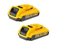 Dewalt DCB183 18V 2Ah XR Li-ion Battery Pack - 2 Batteries Brand New