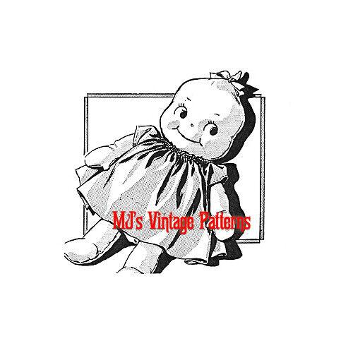 """Vintage 12"""" tall Pixie Elf Brownie Kewpie Doll Pattern ~ too cute!"""