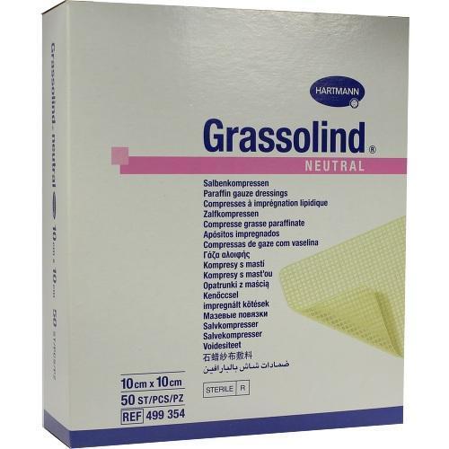 GRASSOLIND Salbenkompressen 10x10 cm steril 50 St