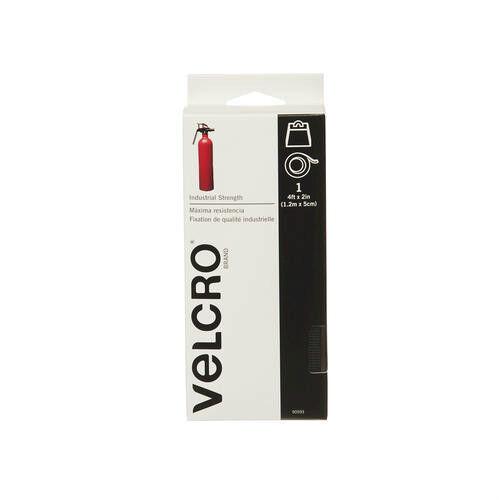 Industrial Strength VELCRO Heavy Duty Black 4ft x 2in Sticky