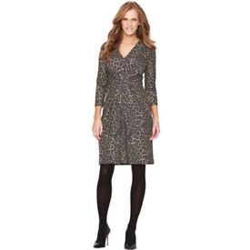 Size 24 Leopard Print Pinch Front Dress nwt's