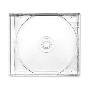 50 X Single CD Jewel Case Cases 10mm 10.4mm Clear Tray HIGHEST QUALITY PLASTIC