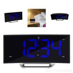 La Crosse Technology 617-249 1.8in Curved Blue Led Atomic Dual Alarm Clock