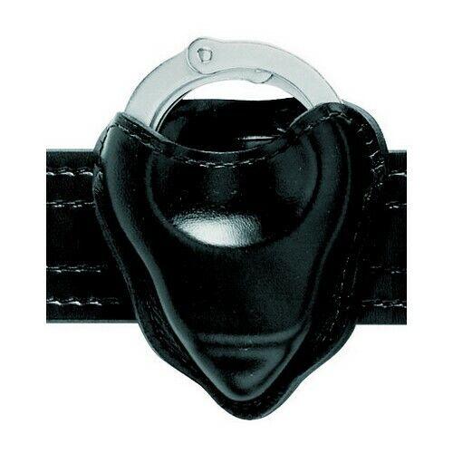 Safariland 090-16 Black Leather Open Top Handcuff Cuff Case Pouch