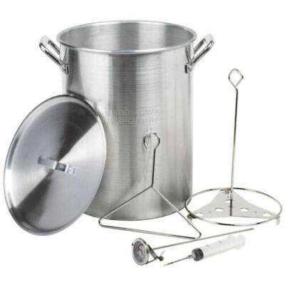 ALUMINUM DEEP FRYER 30 Quart Pot Kit Turkey Fryer Outdoor Propane Stockpot NEW Aluminum Stock Pot Kit