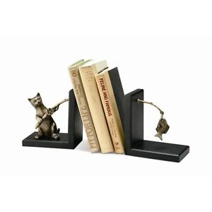 SPI Home Fishing Cat Bookends  33428