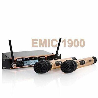 EMB Professional EMIC1900 UHF Dual 2x Wireless Microphone Sy