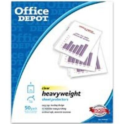 Office Depot Heavy Duty Sheet Protectors Clear 498-841
