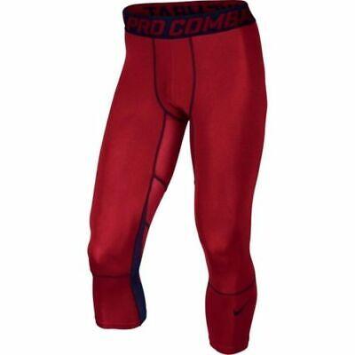 Men's Nike Pro Hypercool 3/4 Length Training Tights 811619 687 Size S, M, L