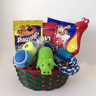 Dog Gift Basket Treats Crewing Toy Set, Holiday Set