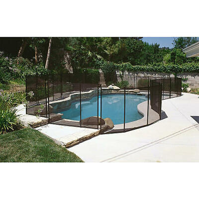Water Warden In Ground Pool Safety Fence 12' Section - 4' or 5' - Black - Beige