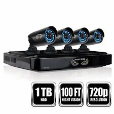 Night Owl Security AHD7-841 8 Channel, 4 X 720p Cam, Smart Video System   NEW