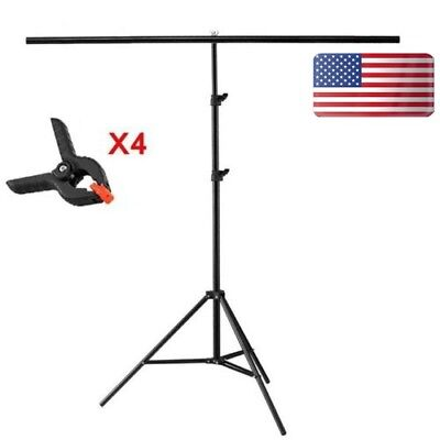 Photography PVC Paper Background Stand Back Ground Support 70-200 Cm W/ Clamp US](Pvc Backdrop)