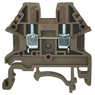 Dinkle Brown DK2.5N-BR DIN Rail Terminal Block Screw Type UL 600V 20A 12-22AW...