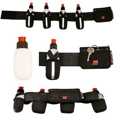 Laufgürtel Jogging Gürtel mit 4 Trinkflaschen und Tasche Trinkgürtel
