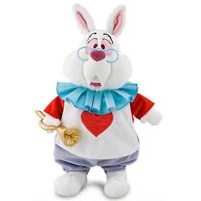 NWT Disney Store White Rabbit Plush Alice in Wonderland Medium 15'' Doll Toy