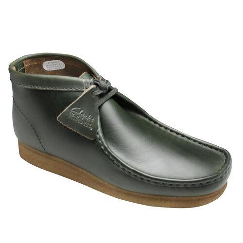 Clarks Originals Men WALLABEES BOOT Green Horween Lea UK 11 / US 12 G 1