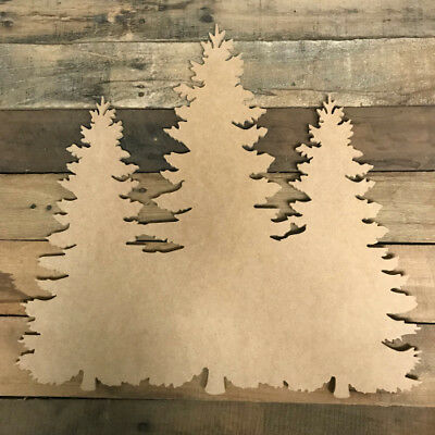 Christmas Tree Cutout, Unfinished Wood Shape, Wood Paintable Craft](Tree Cutouts)