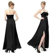 Long Black Satin Dress