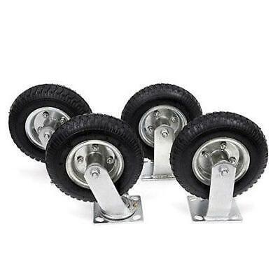 4pcs 8 Pneumatic Air Tire Wheel 2 Rigid 2 Swivel Hd Farm Cart Caster Durable