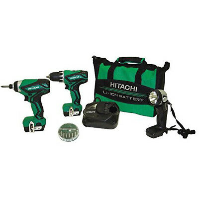 - Hitachi 12V Peak Li-Ion 3-Tool Combo Kit KC10DFL2 recon