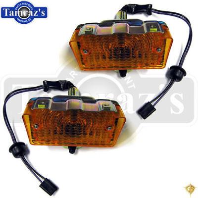 Front Signal Assembly Lens - 71-72 Nova Front Parking Turn Signal Light Lamp Lens Housing Assembly PR. Legion