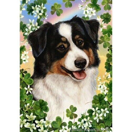 Clover Garden Flag - Tri Australian Shepherd 323531