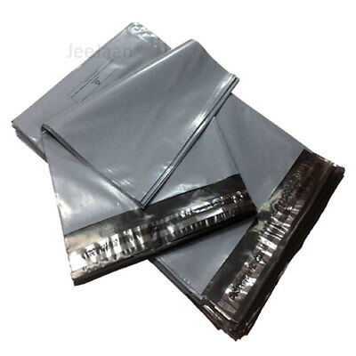 50 x GREY Postal Mailing Bags 250 x 350mm - 10 x 14
