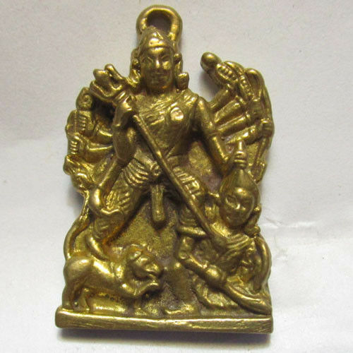 Buddhist amulet pendant china chief  battle statue lucky holy necklage coin