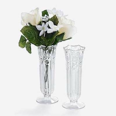 "Beautiful 6"" Bud Set of 12 Vases Weddings Banquets Table Decor NEW"
