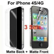 iPhone 4 Screen Protector Matte Front and Back