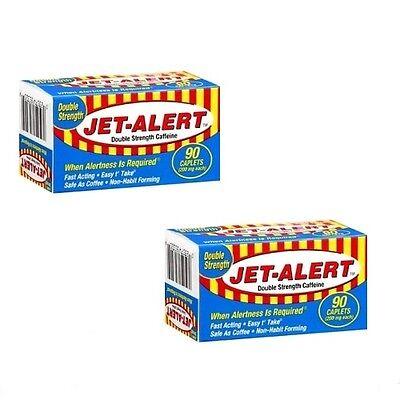 2 Pks Double Strength Jet-Alert Caffeine Energy Pills 200 Mg Caplets 90 Ct - 2 Mg Pillen
