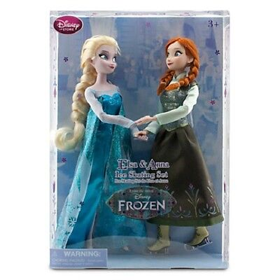 Disney Store Exclusive Frozen Classic Anna And Elsa Ice Skating Doll Set 12  New