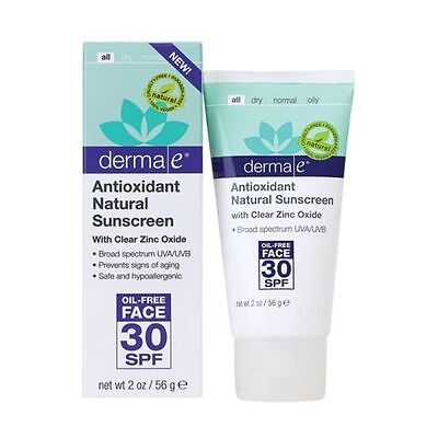 Derma E Antioxidant Natural SPF 30 Face Lotion Sunscreen 2 oz