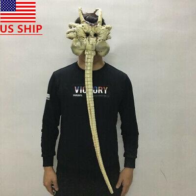 US! Alien Facehugger Latex Mask Halloween Cosplay Adult Unique Prop Helmet Hot - Alien Halloween Props
