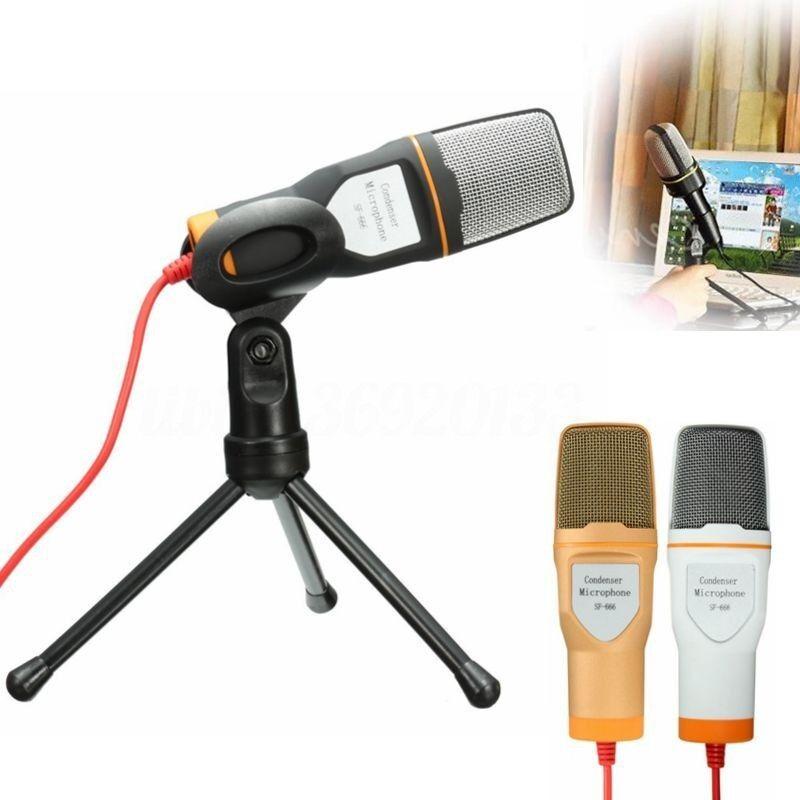 MICROFONO CONDENSATORE MIC REGISTRAZIONE VOCALE PC Microphone CHAT CONFERENZE