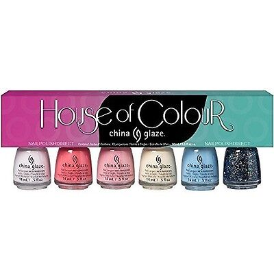 - China Glaze Nail Polish House of Colour Collection of Six Bottles