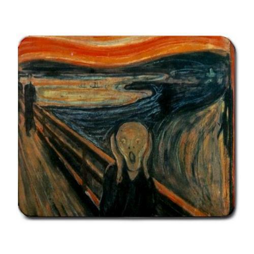 The Scream by Edvard Munch mousepad