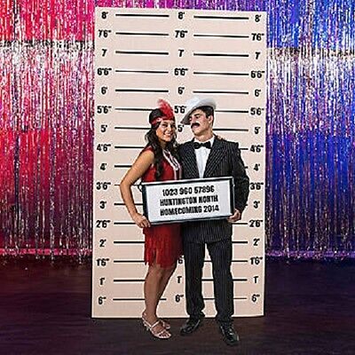 Mug Shot Background (MUGSHOT BACKGROUND * 1920's twenties * party decorations * gangster *)