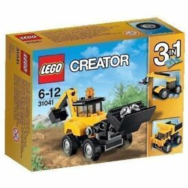 LEGO 3 in 1 Creator 31041 Construction Vehicles Set: Brand new and unopened