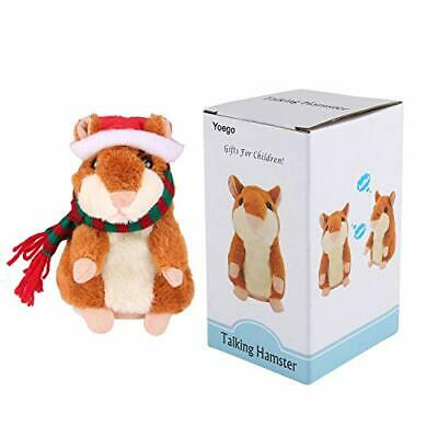 Talking Hamster Repeats What You Say Interactive Brown Christmas Version - $29.21