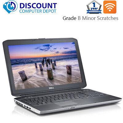 """Dell Laptop Latitude 15.6"""" Windows 10 Core i5 8GB 500GB HD DVD Wifi PC Computer"""
